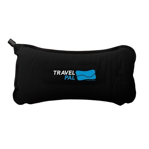 Travel Pal Self Inflating Lumbar MEMORY FOAM Support Pillow BLACK (LIFETIME WARRANTY) by Healthy Back