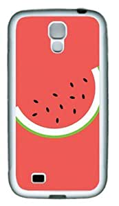 Cartoon Watermelon Samsung Galaxy S4 I9500 Rubber Shell with White Edges Cover Case by Lilyshouse