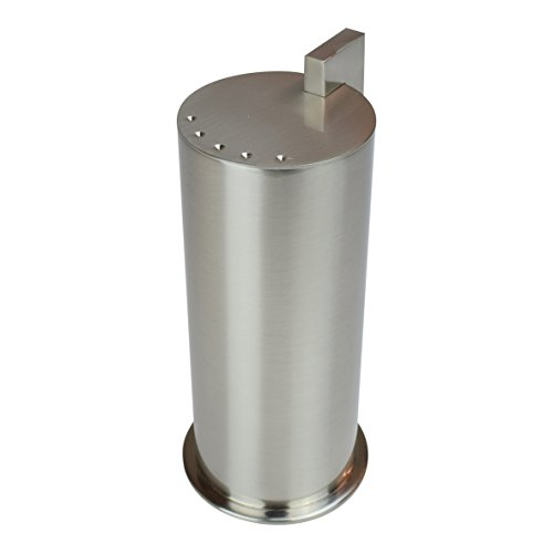 Ginger Kubic Solid Brass Vanity Jar No. 3, Large, Satin Nickel Brass Ginger Jar