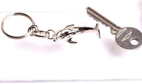 Dauphin porte clés  figurine miniature animaux  anneau clés en métal