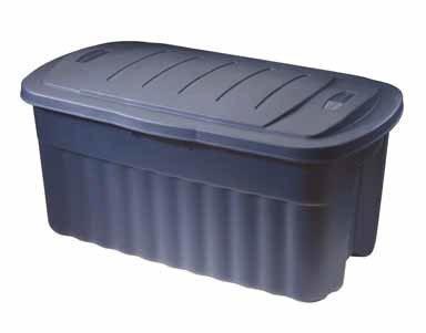 Rubbermaid Roughneck Tote Storage Container, 40-Gallon, Dark Indigo/Metallic