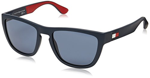 Tommy Hilfiger Men's Th1557s Square Sunglasses, Blue & Red & White, 54 mm (Tommy Glasses)