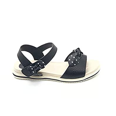 Fudelon Kids Bow Flat Sandals For Girls