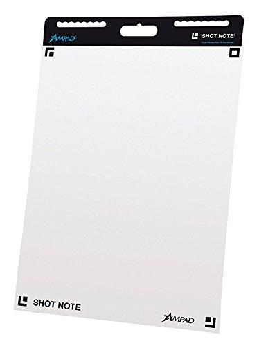 Ampad Shot Note Self Adhesive Easel Pad, 23 1/4 x 31, 25 Sheets, 2PD/BX (Ampad Easel Pad)
