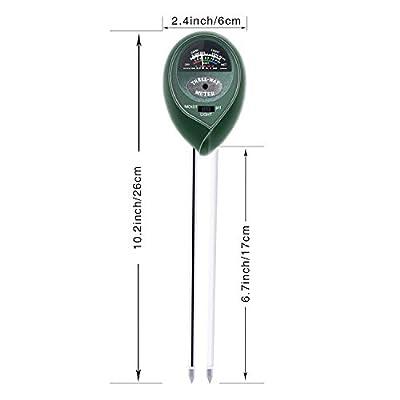 SleeBas Soil Test Kit, pH Moisture Light Tester 3-in-1 Soil Meter for Garden, Farm, Lawn, Trees, Vegetable(No Battery Needed) Green : Garden & Outdoor