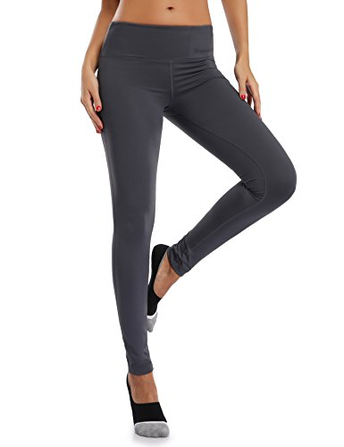 WingsLove Women's Yoga Pants Flex Running Yoga Leggings Tummy Control Mid Waist(S,Grey) For Sale