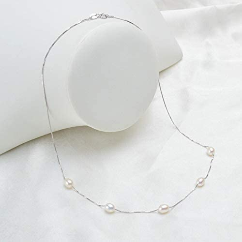 Amazon.com: Zozu Real Natural Freshwater Pearl Necklace Pendant For Women with 925 Sterling Silver Chain Fashion Jewelry (White): Kitchen & Dining