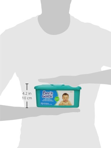 Amazon.com: Pure n Gentle Baby Wipes, Pop-up Dispensing, Scented, 72 Count: Health & Personal Care