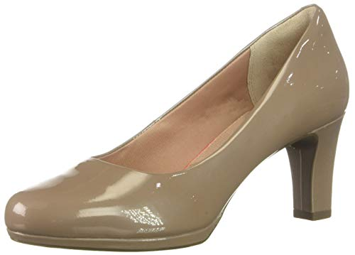 Rockport Women's Total Motion Leah Pump Dark Taupe Pearl, 6.5 M US