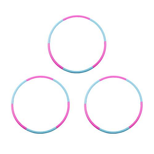 Liberry Hula Hoop for Kids ( set of 3 ), Detachable & Size Adjustable Design,Professional Kids Hula Hoop