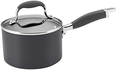 Anolon Advanced Hard-Anodized Nonstick 2-Quart Covered Saucepan, Gray