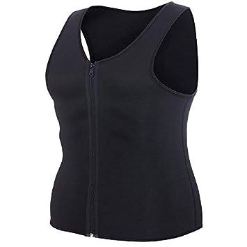 NHEIMA Débardeur de Sudation Homme pour Sport Musculation – Tee Shirt Gaine  Amincissant à Zip en 6eeb9bf02b7