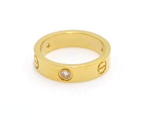 Luxury Shine Celebrity Stone Love Gold-Plated Band Ring for Women (9)