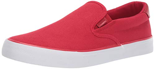 Lugz Men's Clipper Sneaker, Mars Red/White, 11 D US (Red Canvases)