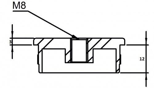 zum Einschlagen Endkappe flach mit M8 Innengewinde hohl f/ür Rohr /ø 33,7 x 2,0mm