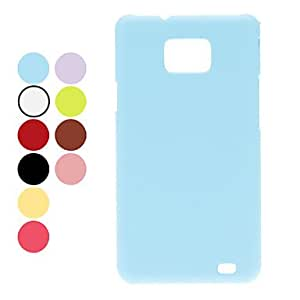 Faux Leather Grain Hard Case for Samsung Galaxy S2 I9100 (Assorted Colors) --- COLOR:Pink