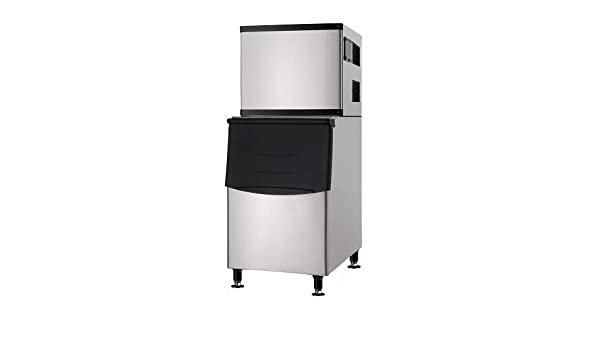 Adcraft LIIM-500 Lunar Ice Commercial Ice Maker and Ice Bin 500-Pounds//Day 110v Stainless Steel