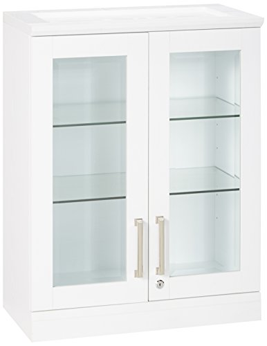 New Age Products Home Bar Short Wall Display Cabinet - smallkitchenideas.us