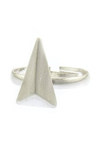Edwardian Costumes Amazon (TRENDY FASHION JEWELRY CONVEXED TRIANGLE RING BY FASHION DESTINATION | (Silver))
