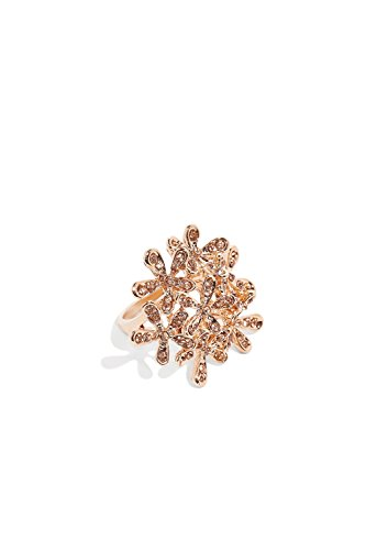 Daisy Bouquet Ring With Rhinestones Floral Cocktail Rings Fashion Jewelry For Women (rose gold, bouquet of flowers, 8)