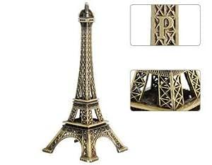 Wisedeal IKASEFU Metal Marvels Eiffel Tower Paris France Figurine Replica Centerpiece Room Table Décor Jewelry Stand Tea Candle Holder (10cm)