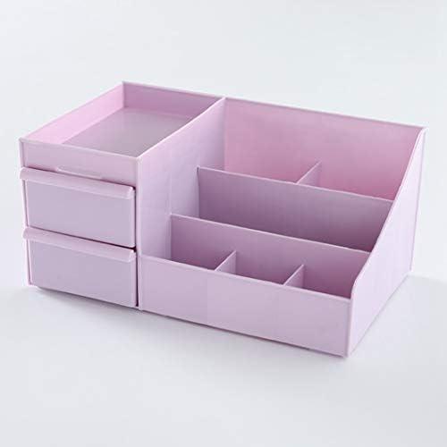 コスメボックス メイクボックス 大容量メイクケース 化粧品収納ケース 超大容量 化粧品入れ 防塵 防水 強い耐久性 テーブル整理 小物入れ 27.5*17*12.5cm ピンク パープル ブルー グレー ベージュ