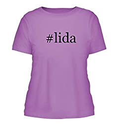 Lida A Nice Hashtag Misses Cut Womens Short Sleeve T Shirt Lavender Large