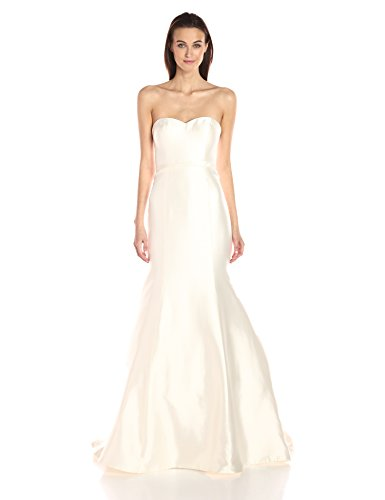 Jenny Yoo Women's London Silk Mikado Wedding Gown, Antique/White, 6 ()