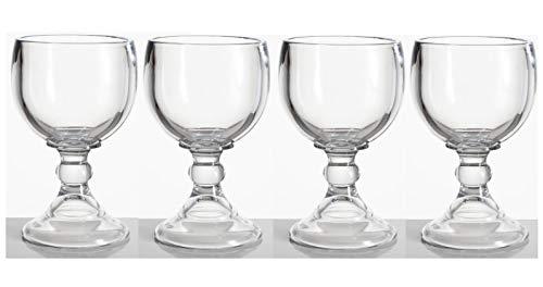 (Made in Mexico 4-Shrimp Cocktail Schooner Beer Glasses Mexican Jarro de Vidrio Glass Copa De Cóctel De Camarones 7