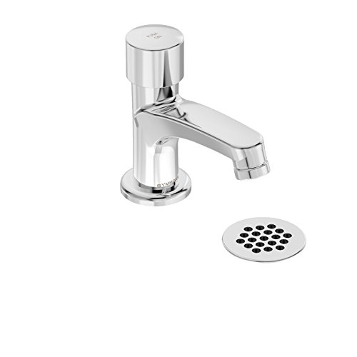 Symmons Metering Faucet (Symmons SCOT Metering One-Handle Single Hole Bathroom Faucet with Grid Drain, Chrome (SLS-7000-G))