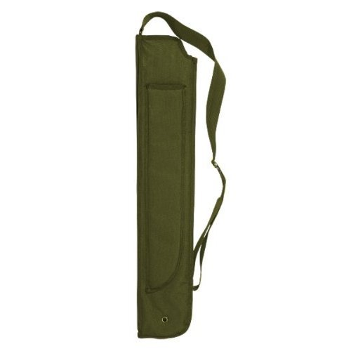 VooDoo Tactical 20-0073004000 Shotgun Scabbard With Attached Machete Sheath, OD, One Size