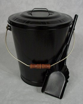 Amazon.com: Fireplace Hearth Ash Coal Hod Bin Bucket Carrier, Lid ...