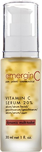 emerginC 20% Vitamin C Facial Serum - Extra Strength Micro-Encapsulated Spheres + Brightening Complex to Help Address Visible Signs of Aging (1 Ounce, 30 Milliliters)
