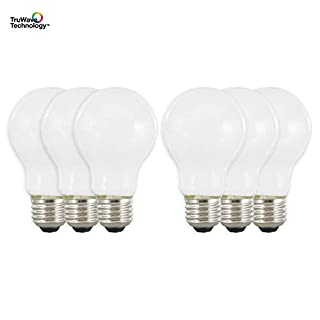 SYLVANIA General Lighting 40816, Soft White SYLVANIA LED A19 Natural Light Series, 40W Equivalent, Efficient 5.5W, Dimmable, Frosted Finish, 2700K Color Temperature, 6 Pack