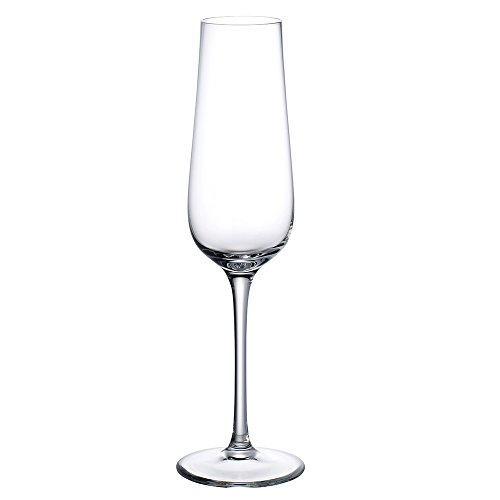 4 Champagne Glasses (Purismo Champagne Glass Set of 4 by Villeroy & Boch - Premium Crystal Glass - Dishwasher Safe - Perfect For Prosecco, Champagne, or Cocktails - 9 Ounce Capacity)