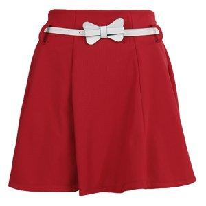 Mini jupe robe taille haute elastique avec ceinture taille unique rouge 74e264abc0e