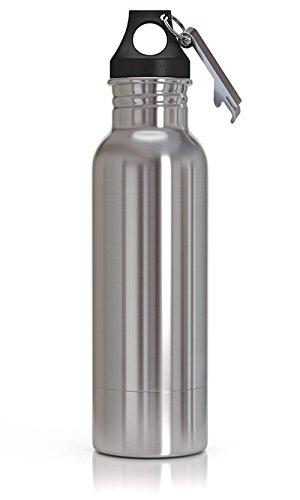 Multi-Star Original Stainless Steel Beer Bottle Holder Insulator Opener to Keep Your Beer Colder