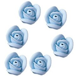 Small Soft Blue Royal Icing Roses