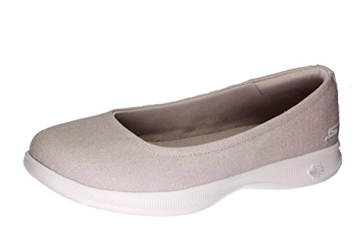 Skechers Go Step Lite Bloom Women's Flats, Taupe Bloom, 9 US