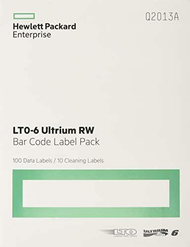 (HP LTO-6 Ultrium RW Bar Code Label Pack)