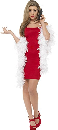 The Clueless Costume (Smiffy's Clueless Cher Costume, Dress, Feather Boa & Phone Accessory,)