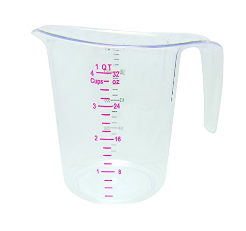 Polycarbonate Bottle Durable (Update International (MEA-100PC) 1 Quart Plastic Measuring Cup)