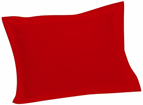 Crescent Tailored Comfy Easy Care Pillow Sham Standard - Standard Red Sham