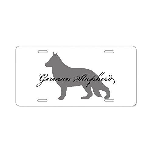 CafePress - German Shepherd Aluminum License Plate - - German License Plate Funny