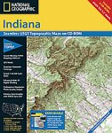 National Geographic TOPO! Indiana Map CD-ROM (Windows)