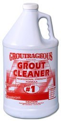 Grout Cleaner Professional Heavy Duty Tile & Grout Cleaner - Groutrageous Step #1 (Gallon) ()