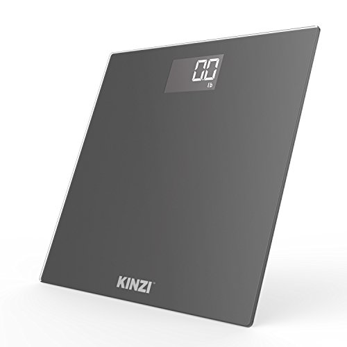 Kinzi Precision Digital Bathroom Scale w/ Extra Large Lighted Display and Step-On Technology (2017 New Version)
