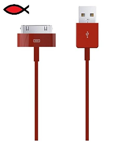 lot-of-100-pcs-red-high-speed-usb-sync-data-charger-cable-cord-for-iphone-4s-32gb