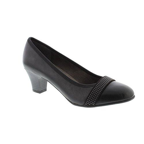 Softline 22464-29 black low heel court shoe (37) uhAyFF0