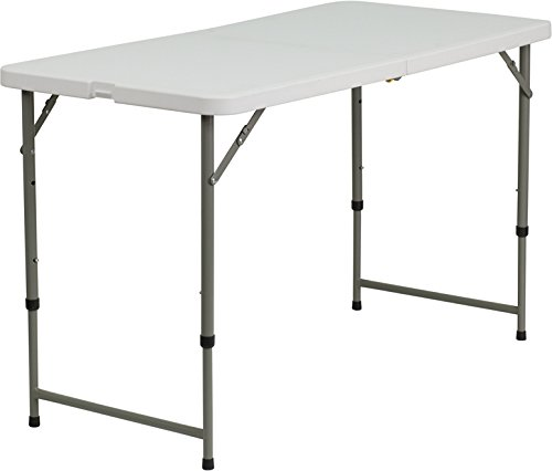 Adjustable Height Conference Table (Flash Furniture 24''W x 48''L Height Adjustable Granite White Plastic Folding Table)